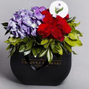 Bolsa Flora Hortensias y Rosas