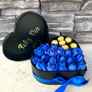 Corazon Rosas y Chocolates