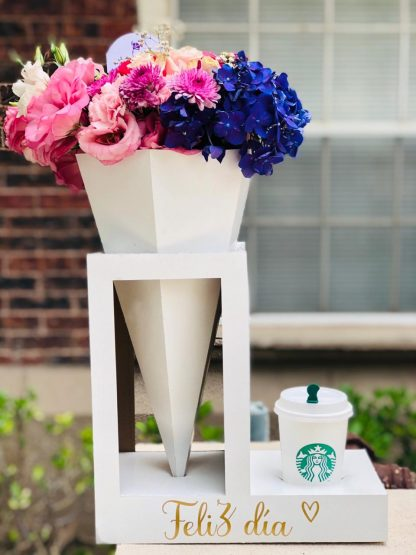 Flowers and coffe
