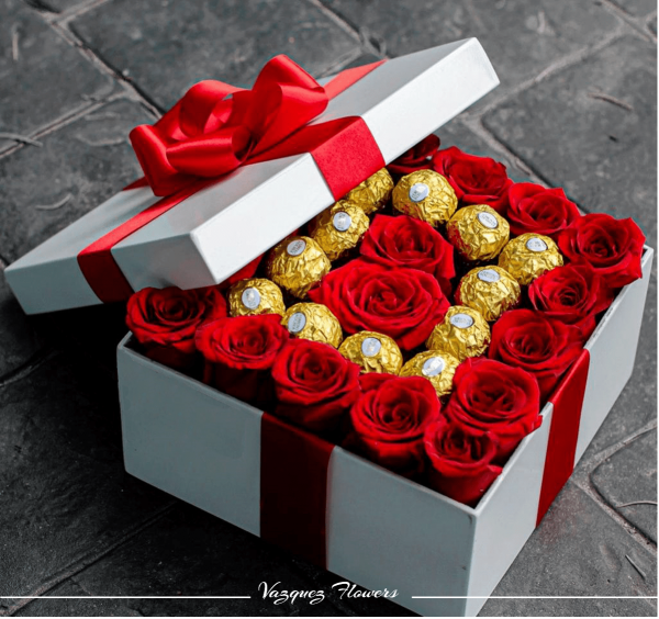 Caja Blanca Chocolates Rosas - Edited-min