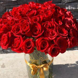 Jarron 100 Rosas
