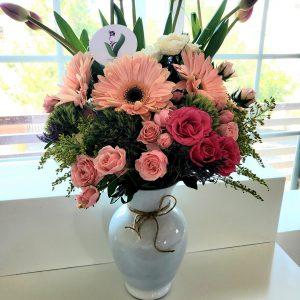 Jarron Rosas y Tulipanes