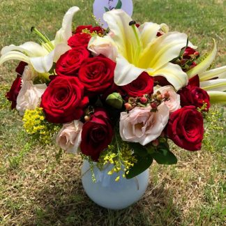 Jarron Lilys y Rosas
