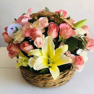 Canasta Rosas y Lilys