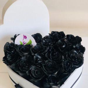 Heart Rosas Negras